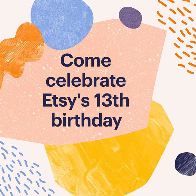 Psst, it's Etsy's 13th birthday! This online marketplace has opened up a lot of doors for me and I am eternally grateful. To celebrate, everything in the shop is currently 10% off 🎉 #shopsmall #supportlocal #etsyturns13