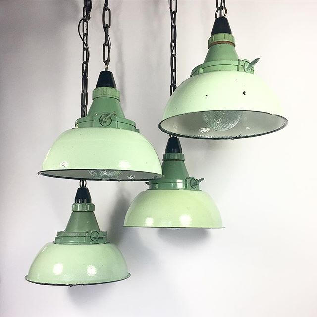 Move over Tuesday bluesday☔️ These Soviet Mint Marshall Pendants are fresher than a tic tac with a paint job hotter than Georgia asphalt🔥They likely illuminated old war machines or escape routes underground in an old communist bunker somewhere in the middle of Siberia😮  Get your very own at fixtelectric.com. All UL Listed✔️ #oldlightsnewlife