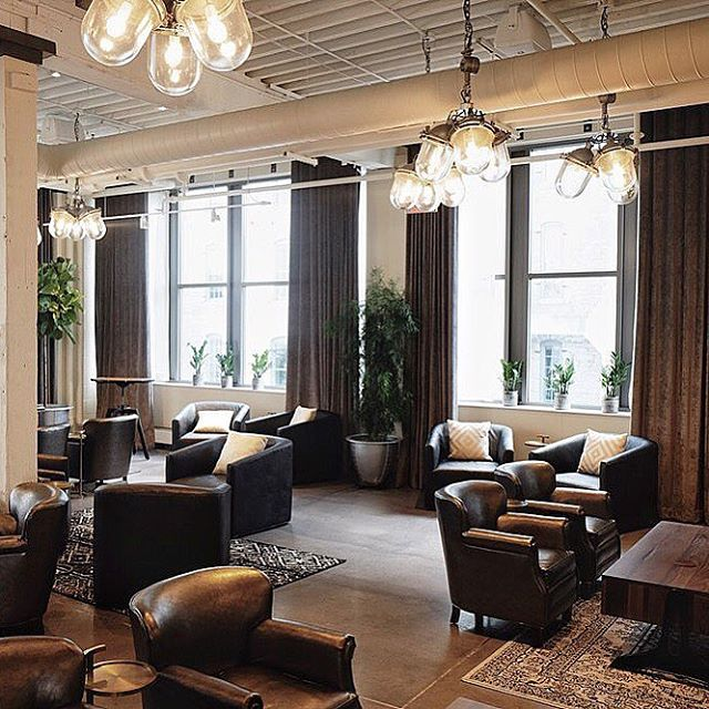 Monday's are for post work cocktail time and delectable bites at the @thebreakroommpls, located within the historic @machineshopmpls. They've got some pretty cool industrial chandeliers, too😏 #oldlightsnewlife  Featured here are our custom triple pendants using our Kenwood Coin.  All UL Listed!  Hit us up for your latest project!👍🏼
