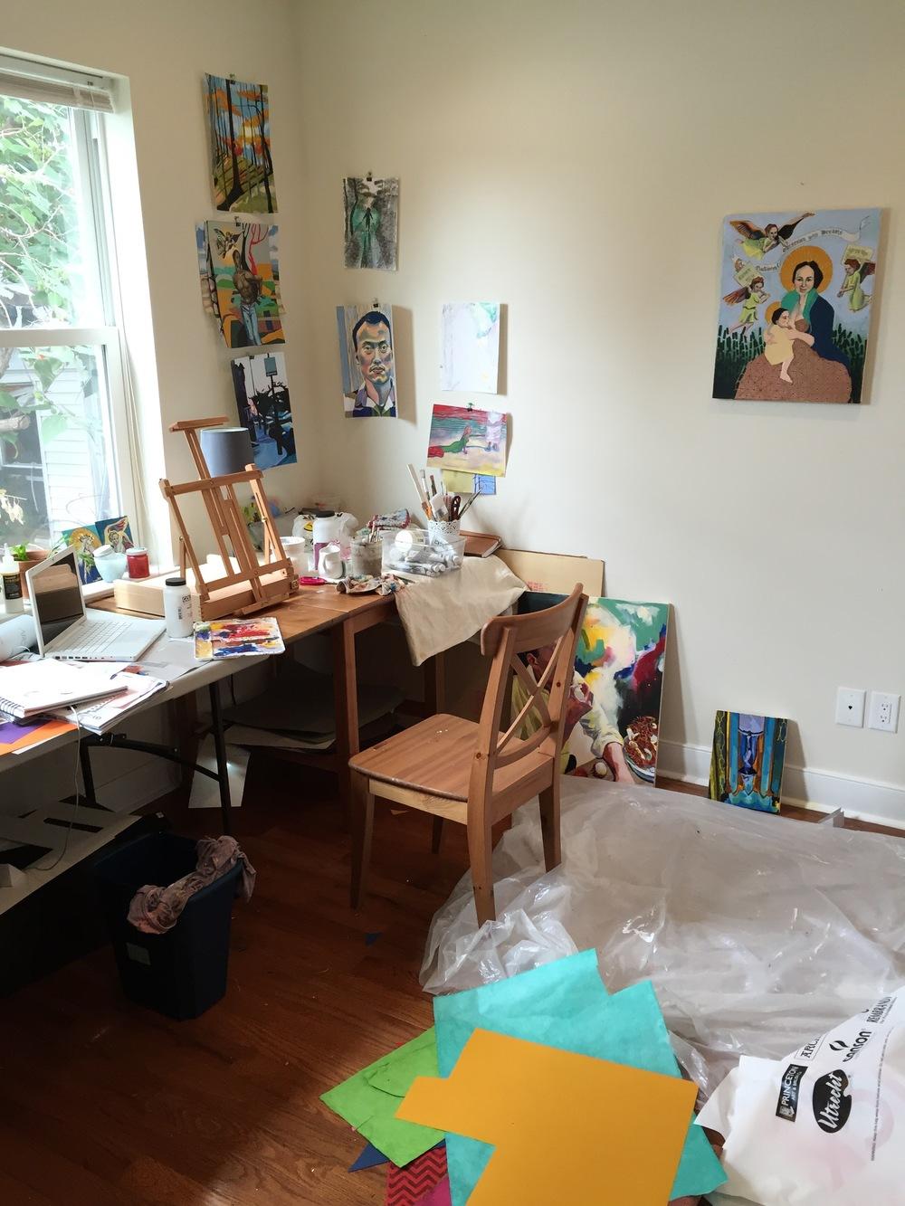 A peak into my studio