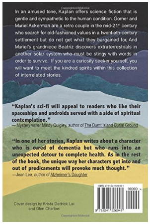The back cover of Curiosity Seekers by Karen B. Kaplan, cover art by Krista Dedrick Lai, text layout by Glen Charlow