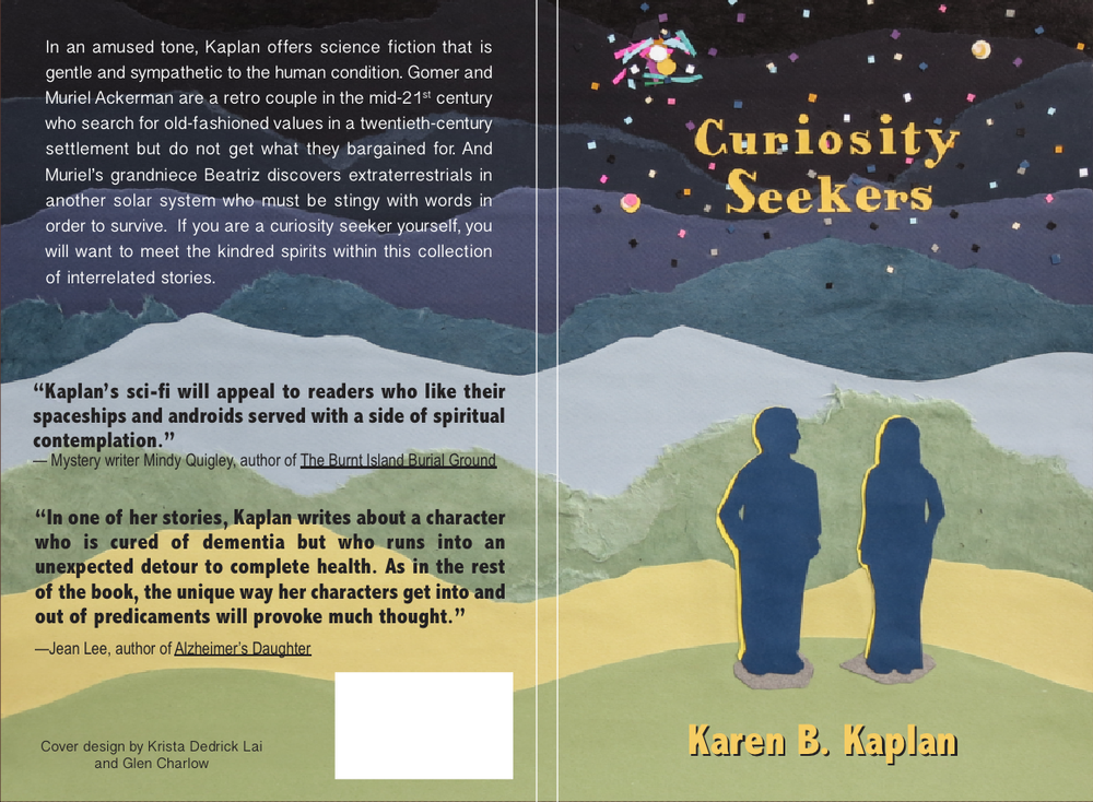 Cover design for Curiosity Seekers. Art by Krista Dedrick Lai. Text and Layout by Glen Charlow.