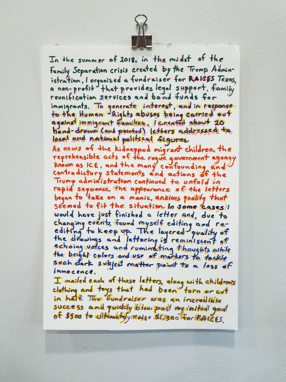 Letters of Dissent project statement