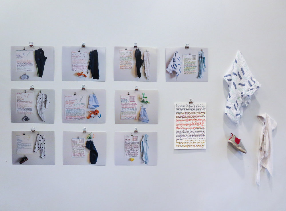 Installation documenting Letters of Dissent project