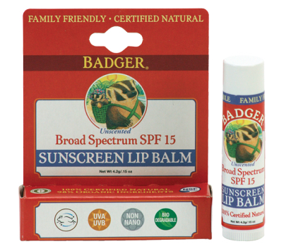 Badger Sunscreen Lip Balm SPF 15