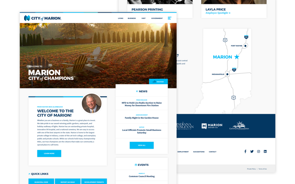 New website landing page.