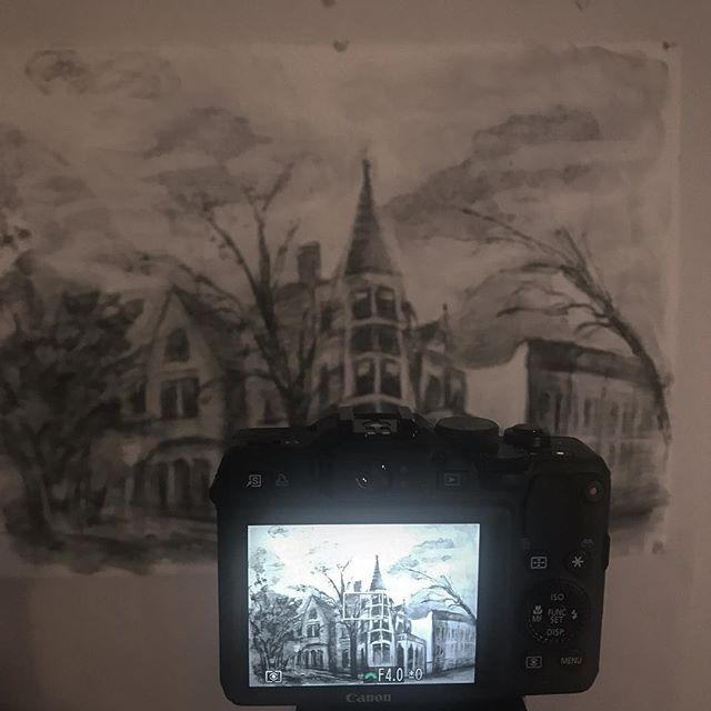 Feels good to get back to #animation #stopmotion #charcoal #drawing #brooklyn