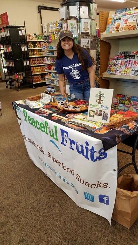 Peaceful Fruits Summer Intern Jordan at Lake Road Market!