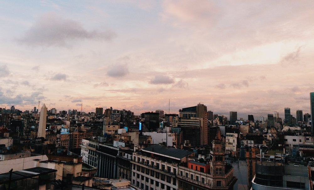View of downtown Buenos Aires from my room!