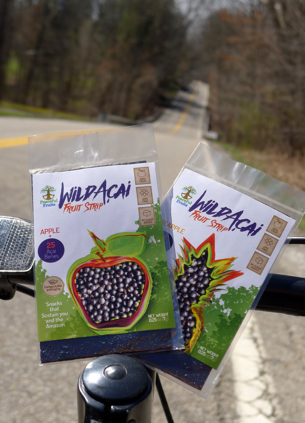 delicious healthy rainforest acai fruit strips snacks