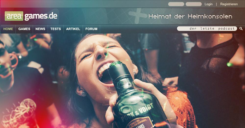 Logo und Menüleiste: AreaGames.de / © Webedia Gaming GmbH
