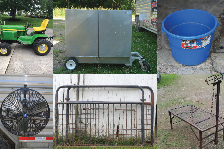 SOLD - JULY CONSIGNMENT AUCTION - LIVESTOCK SHOW SUPPLIES & AG EQUIPMENT