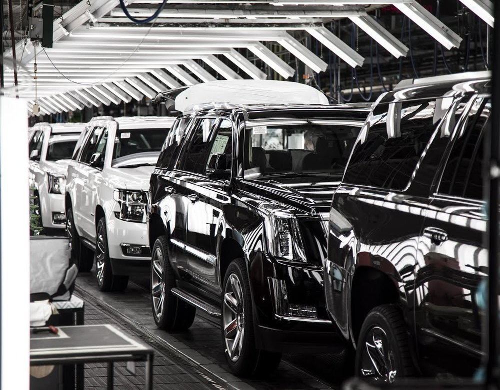 Escalades on the Assembly Line