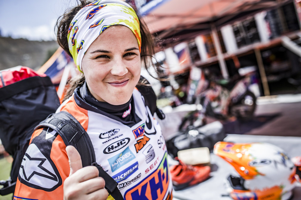 Laia Sanz Bivouac Dakar 2017.jpg