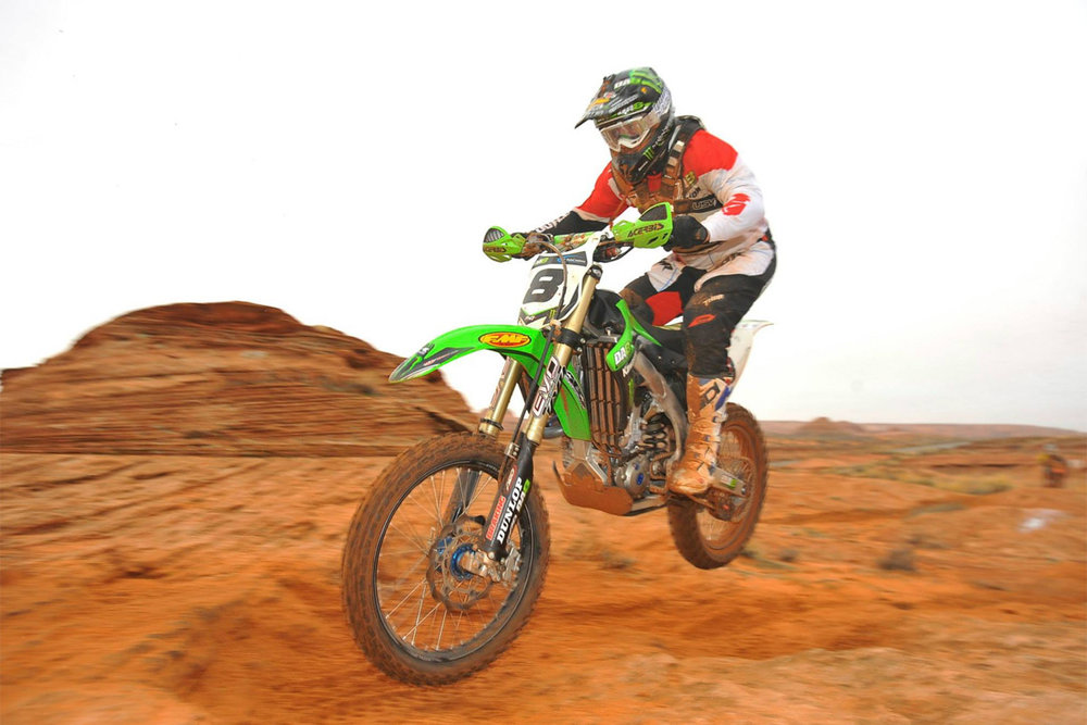 7. Destry Abbott - Destry won (5) AMA National H & H championships and was the dominant rider in the desert during the first decade of the 21st century. Destry also accumulated several BITD overalls along the way. The only thing missing from Destry's resume is an overall in Baja but that can't hold him back from being in my top 10. Destry worked hard at his craft and trained harder than anyone else from his era. Destry also successfully made the transition from two to four stroke. Destry's pure love for the sport and the desert racing community made him a fan favorite and hero to a generation of desert racers.