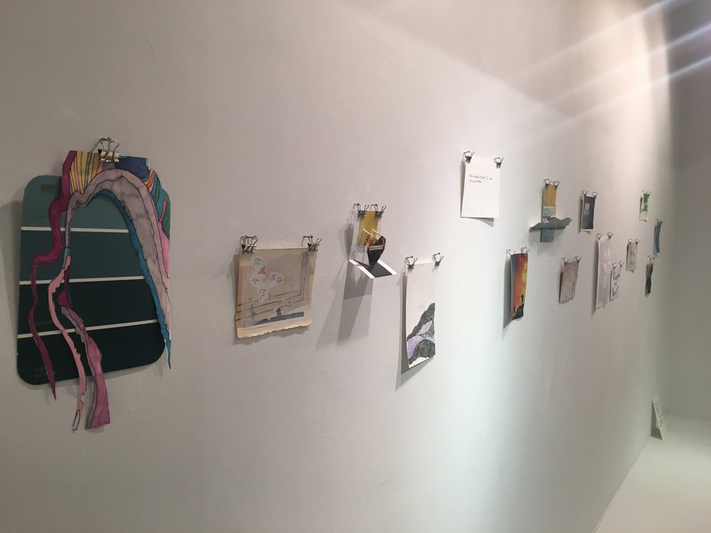 Postcard Project, install view Shelley Chamberlin and Michelle Daly, 2016