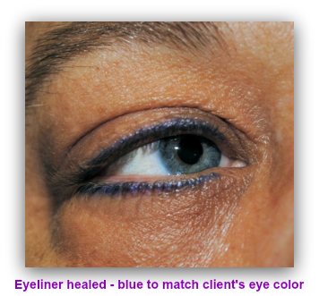 Tattooed permanent makeup eyeliner