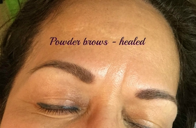 "tattooed powder or ""hombre"" brows - healed Work"