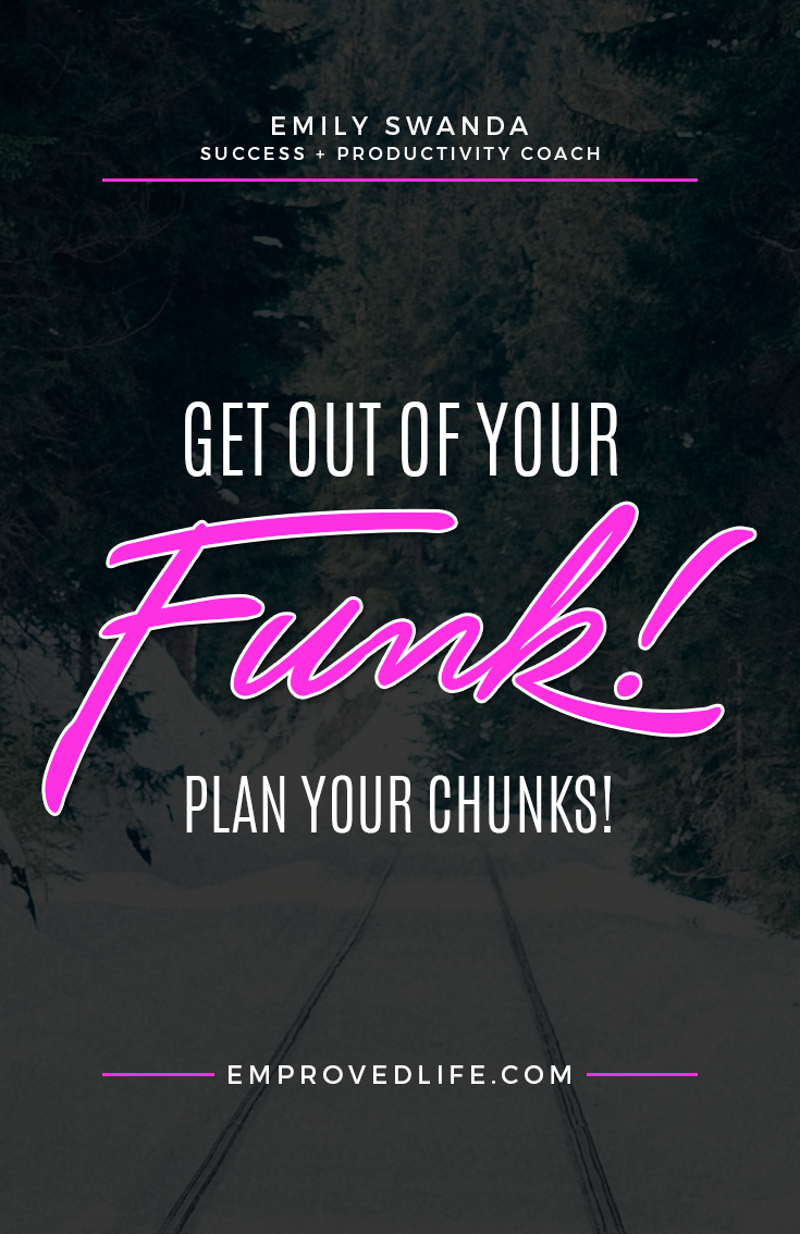 Have you ever felt like you're spinning your wheels and not going anywhere? Like you're just in survival mode from day to day and nothing is happening in regards to achieving your goals? It's time to get out of that funk by planning out the chunks of your year!