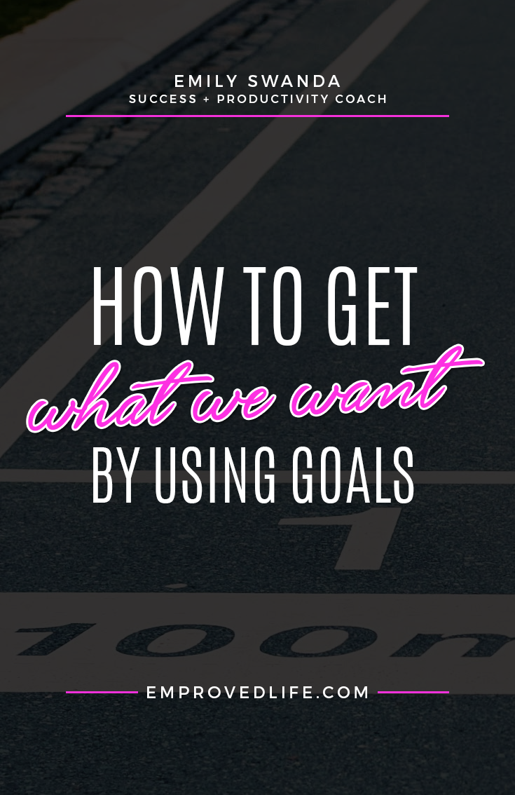 I am obsessed with goals and goal setting. I use goals as my roadmap to success and without a goal I feel lost, unfocused and confused. Can you relate? Continue reading How to Get What We Want by Using Goals from Emily Swanda