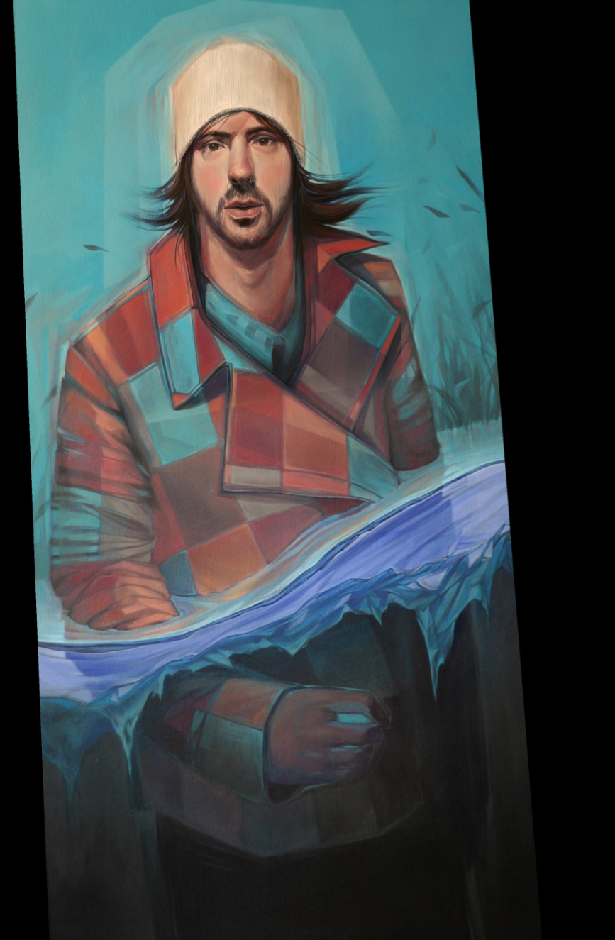 Self-portrait of the artist, Travis Parr.