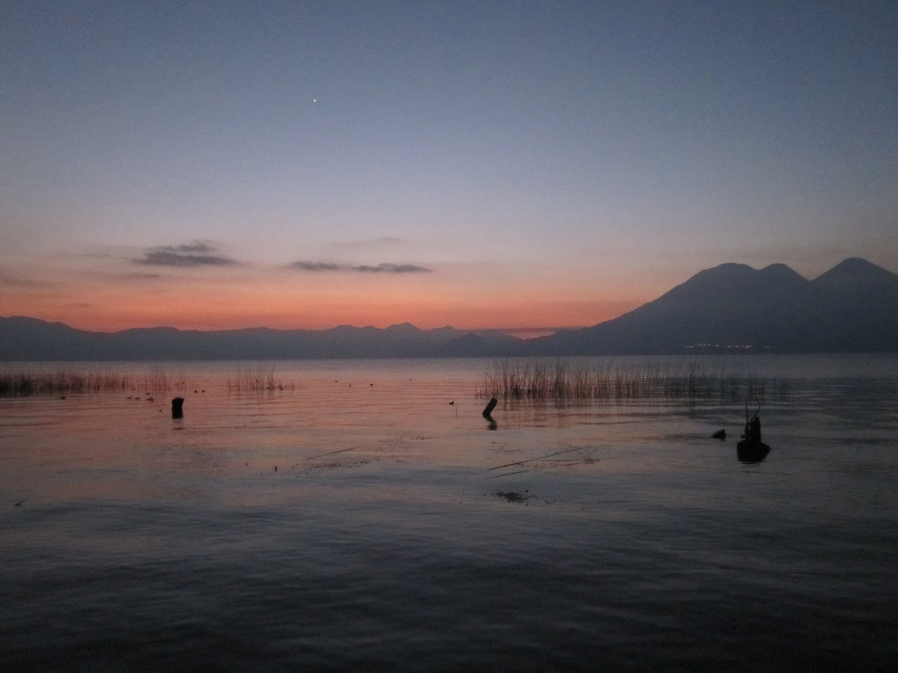 Full moon over Lake Atitlan