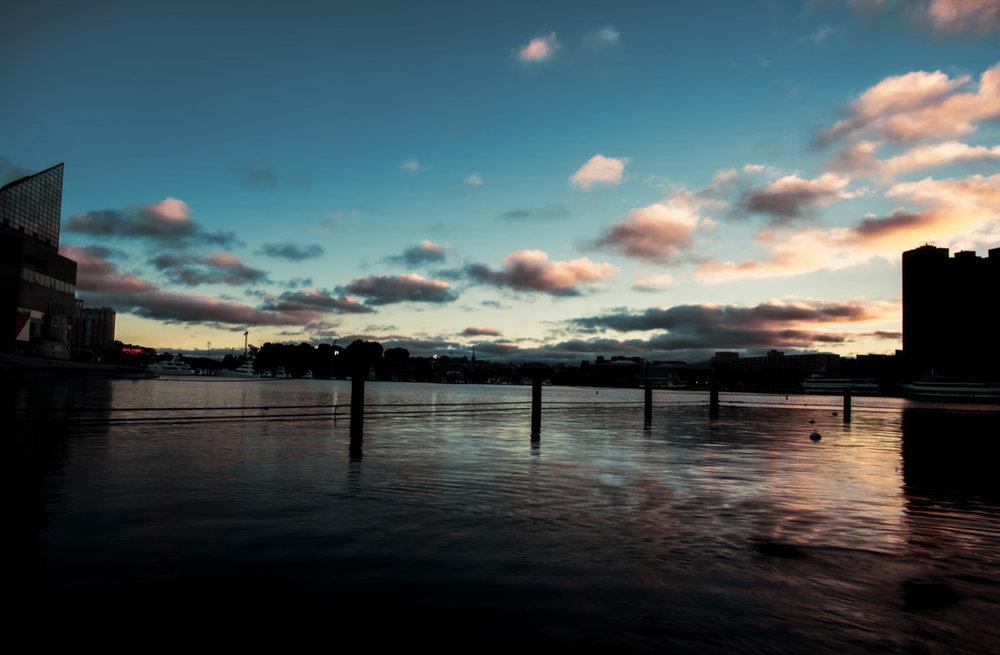 Inner Harbor at Sunset