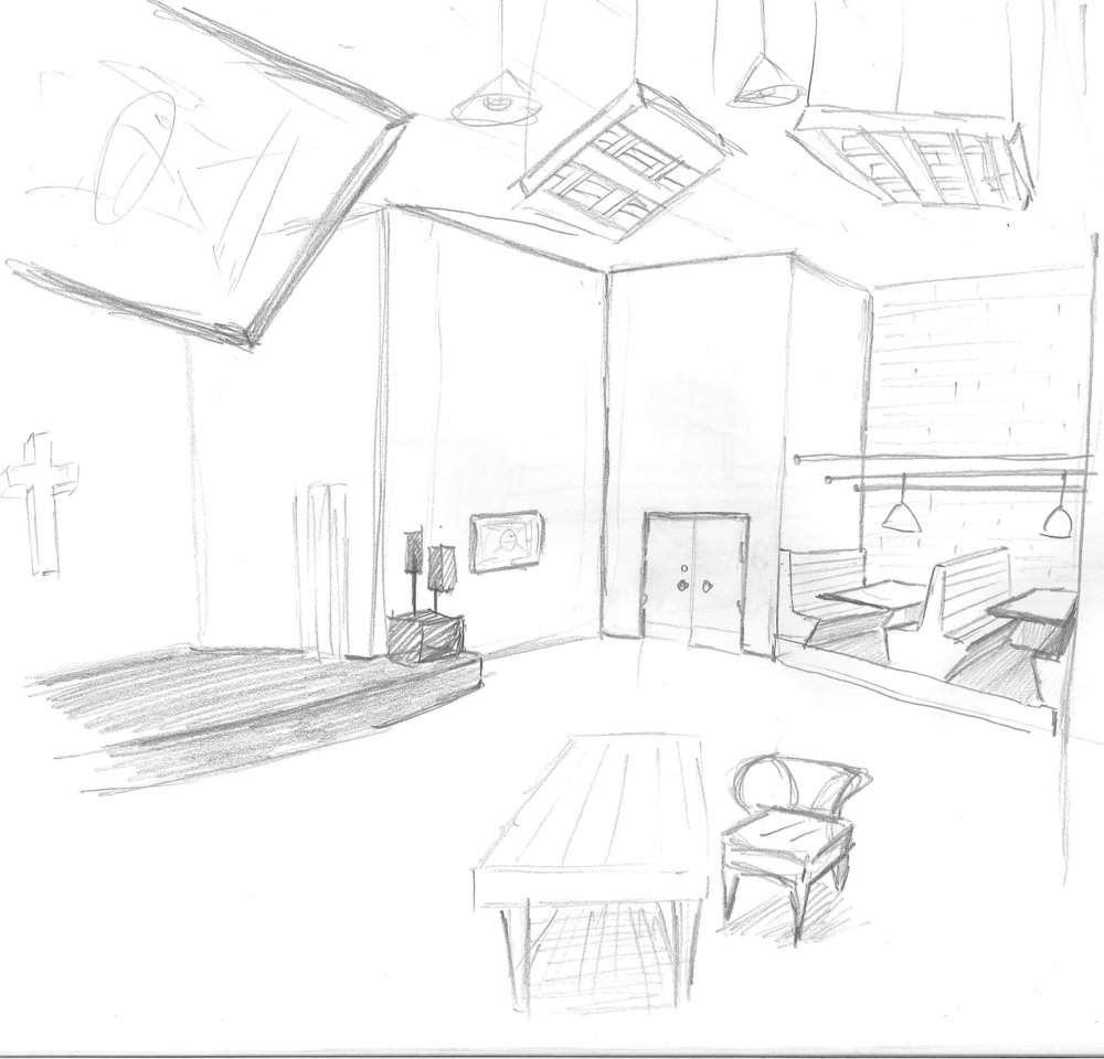 preliminary drawings of what I want the room to look like