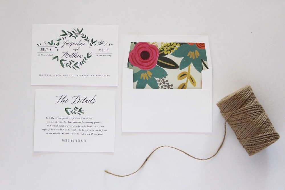 Wedding Invitations//DIY Details — Clocking Out