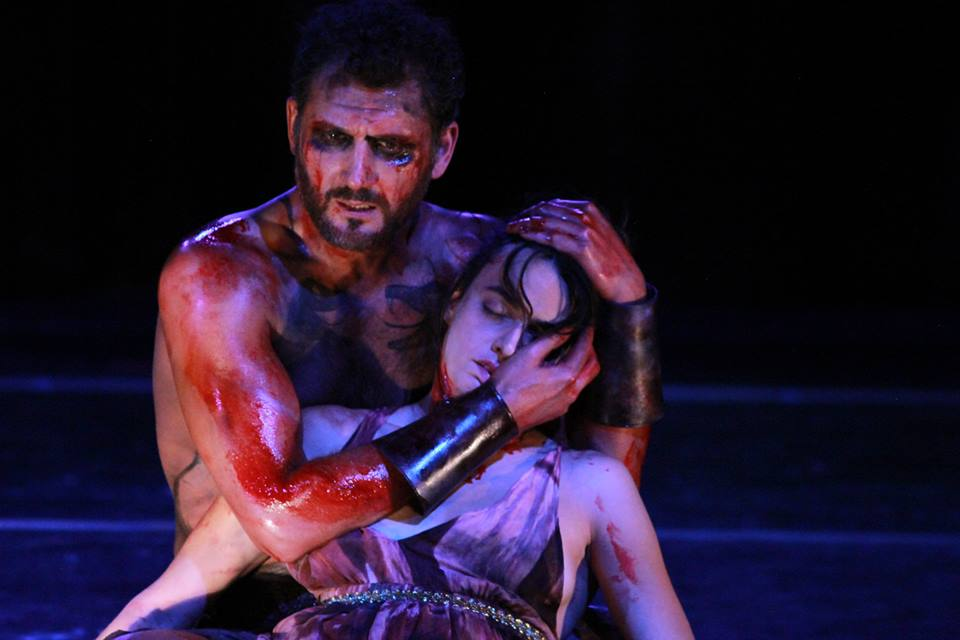 "John Farmanesh-Bocca and Courtney Munch in ""Hercules Furens"" (2013)"
