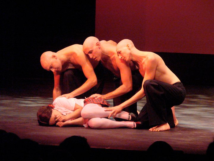 "Michael Buffo, Dash Pepin, Vincent Cardinale, and Rachel McGuiness in ""Pericles Redux"" (2009)"