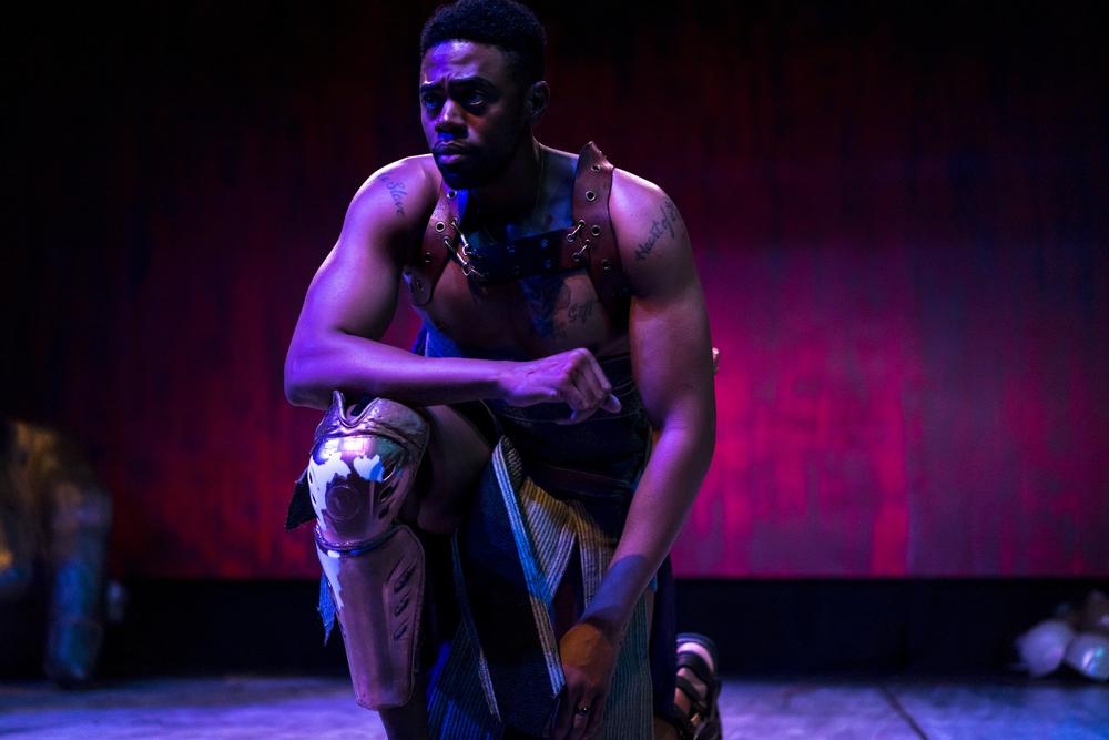 Ronin Lee as Odysseus. Photo by Sean Deckert.