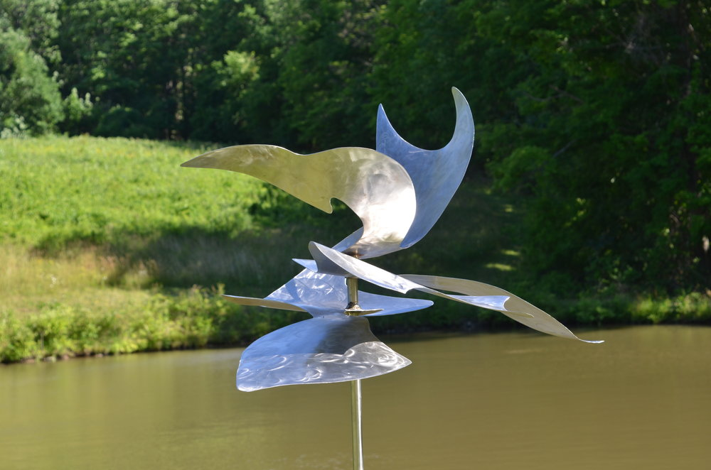 Ayasuluk Stainless Steel Sculpture at Chatham Meadows Sculpture Show Summer 2016. This sculpture was awarded an honorable mention in the show by Nicole Hayes, curator of the Fields at Art Omi