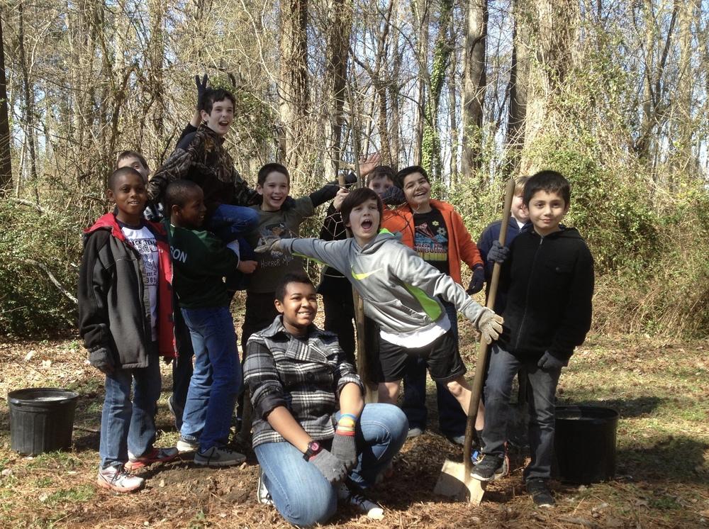 2013 Joyner Elementary Fifth Grade Tree Planting
