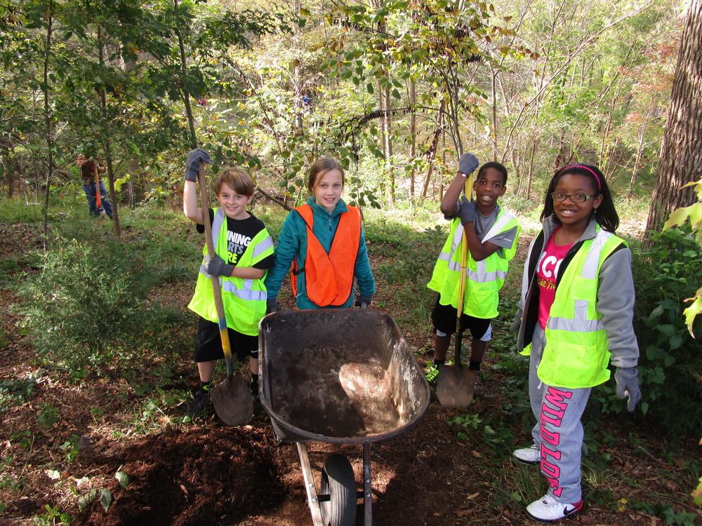 2014 Joyner Elementary Chavis Park Tree Planting