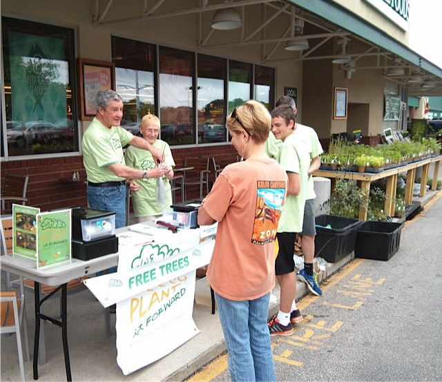 2015 Whole Foods Raleigh Earth Day Tree Give Away