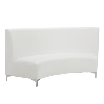 Curved Banquet Sofa   White