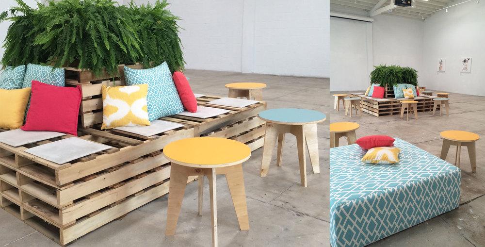 Ronen Rental - wood pallet lounge