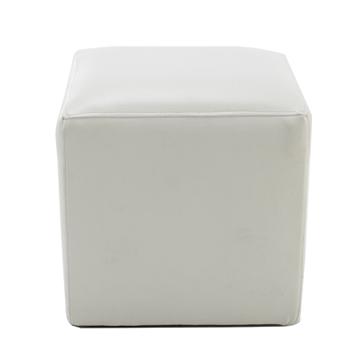 Admirable Cube Ottoman White Ronen Rental Creativecarmelina Interior Chair Design Creativecarmelinacom