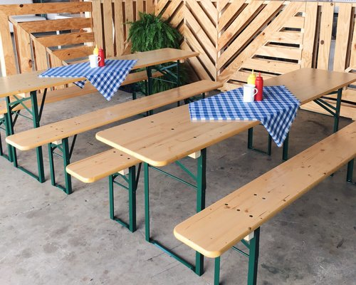Beer Garden Table set Ronen Rental
