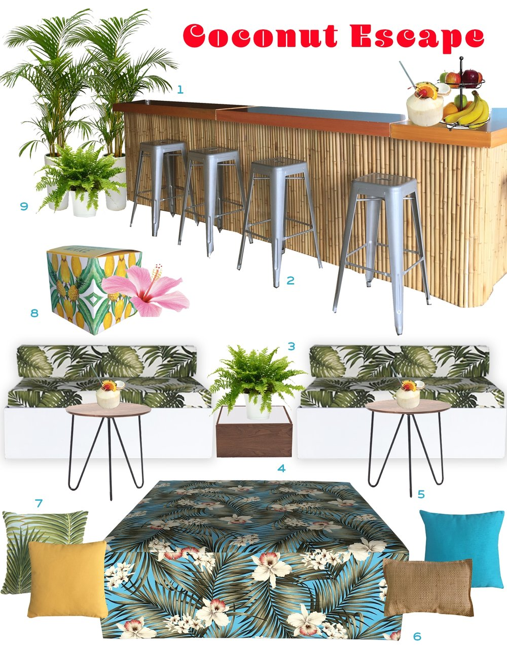Ronen Rental - Coconut escape - Rent the look furniture