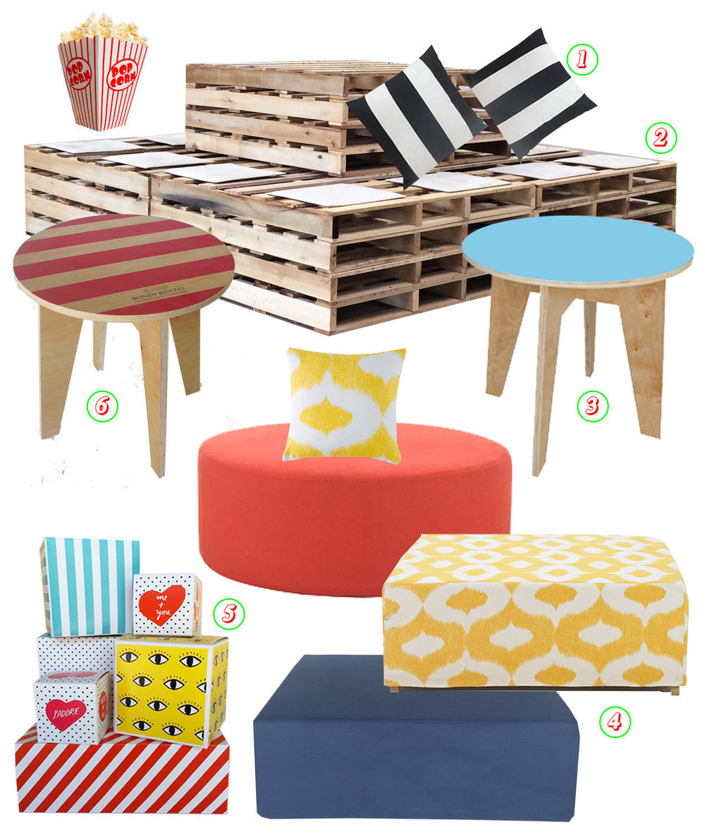 Ronen Rental Wonder wheel rent the look furniture