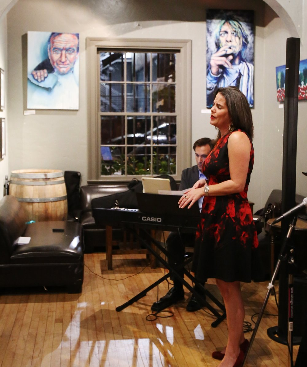 Kala singing at V Wine Room.JPG