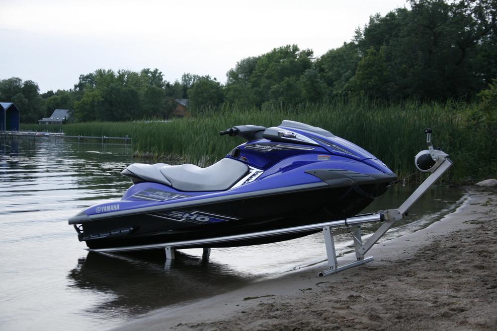 12' Shoreline Lift w/ 11' Yamaha SVHO Personal Watercraft.