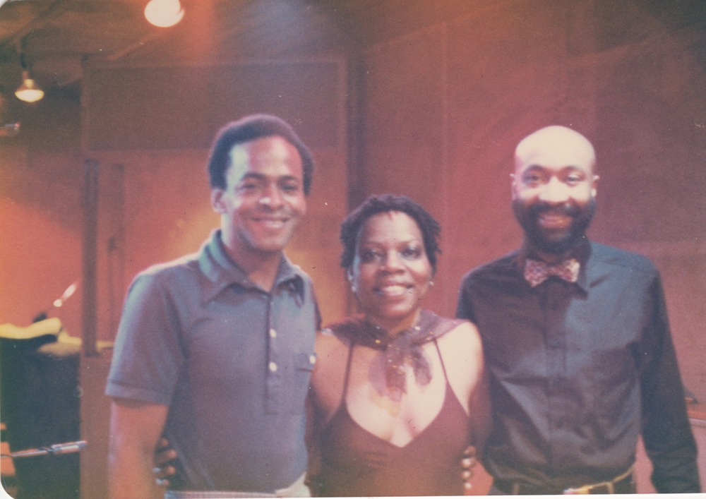 Amina with Bassist Cecil McBee and Drummer Jimmy Lovelace recording Amina Claudine Myers Salutes Bessie Smith