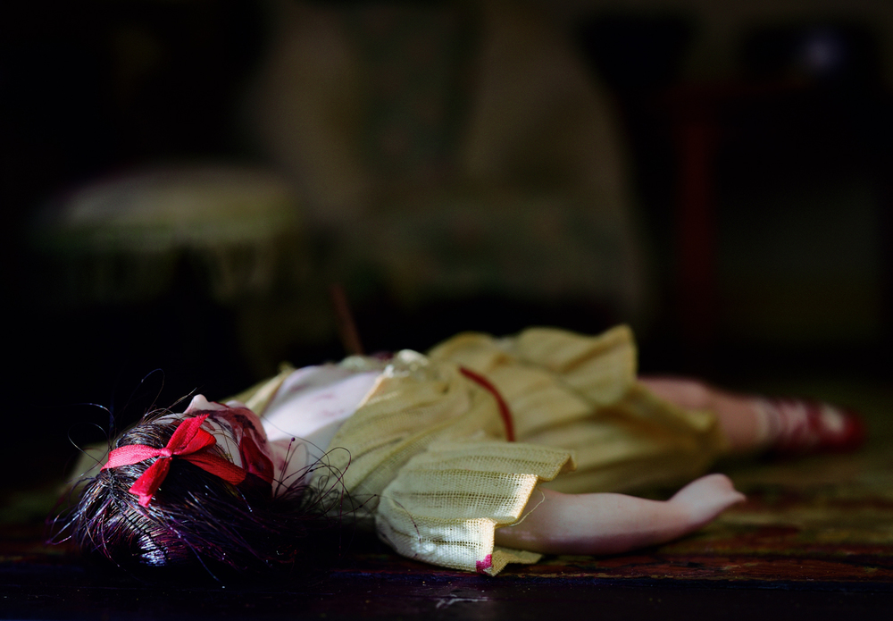"Parsonage Parlor (doll) from ""The Nutshell Studies of Unexplained Death"""