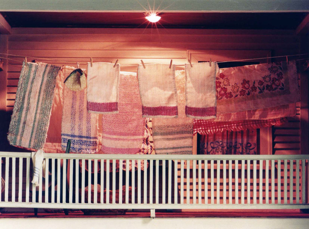 Two Story Porch (clothesline)