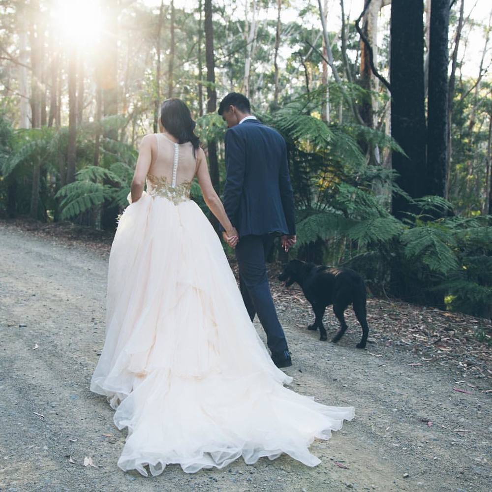 That dress Shannon! Happy Monday #byronbayweddingphotography #dressshot #elopement #byronbayhinterlandwedding #koonyumrangeretreat (at Koonyum Retreat)