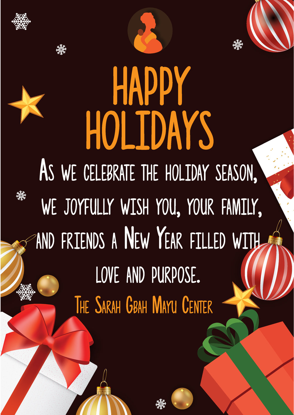 Seasons Greetings The Sarah Gbah Mayu Center