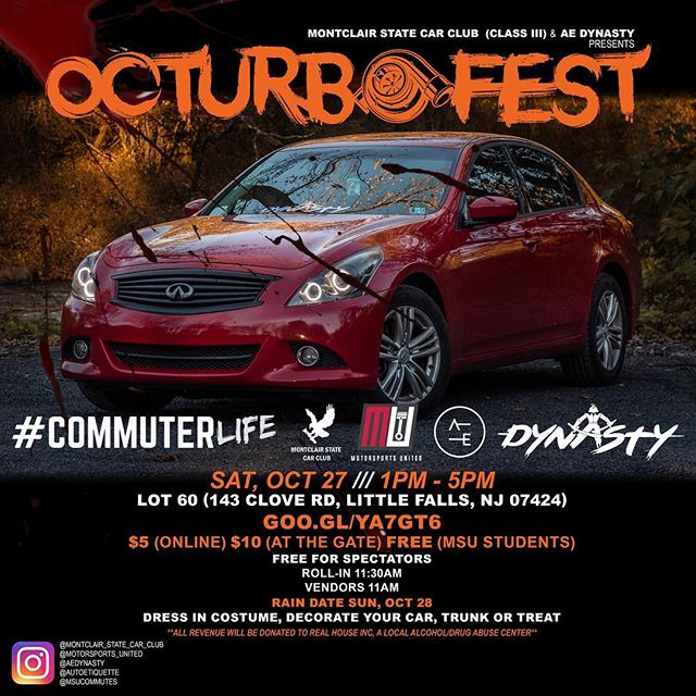 THIS SATURDAY  Booooooo 👻, It's the season‼️ @aedynasty x @montclair_state_car_club Presents OcturboFest. A trunk or treat Halloween party car meet 🎃🎃🎃🔥🔥🔥😈. 100% of proceeds will be donated to Real House Inc, an organization in Montclair, NJ that provides temporary homeless housing & treatment for substance abuse. #GearheadsGiveBack 🙏🏼. EVENT LINK IN BIO‼️ ➖➖➖➖➖➖➖➖➖➖➖➖➖➖➖➖➖ #autoetiquette #Dynastycrew #staticstruggle #DrivenByUnity #Cambergang #StaynMoist #Slammed #stancenation #foreverslammed #formativefitment #canibeat #freshmeet #VorgedSociety #ProperFitment #SuperStreet #ImportTuner #SpeedHunters #StanceNation #StanceWorks #LoweredLifestyle #ModifiedSociety #Dapper #LoweredStandards #Stance_Daily #Follow #StancedShots